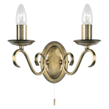 Traditional Antique Brass Wall Fitting 2030-2AN